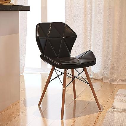 Sgabello moderno in legno massello stile minimalista, soggiorno ...