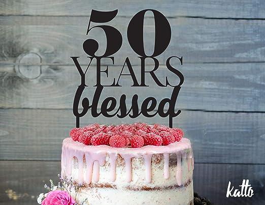 Decoración para tarta de cumpleaños, 50 años de sorpresa ...