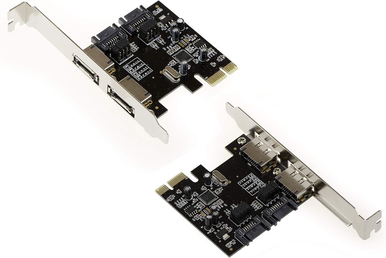 /incluye conexiones independientes/ Kalea-Informatique/ / /Tarjeta controladora PCI Express 2/puertos SATA 3 /Enchufe SATA 3/internos y//o eSATA 3/externos/ /Chipset ASM PCI-E