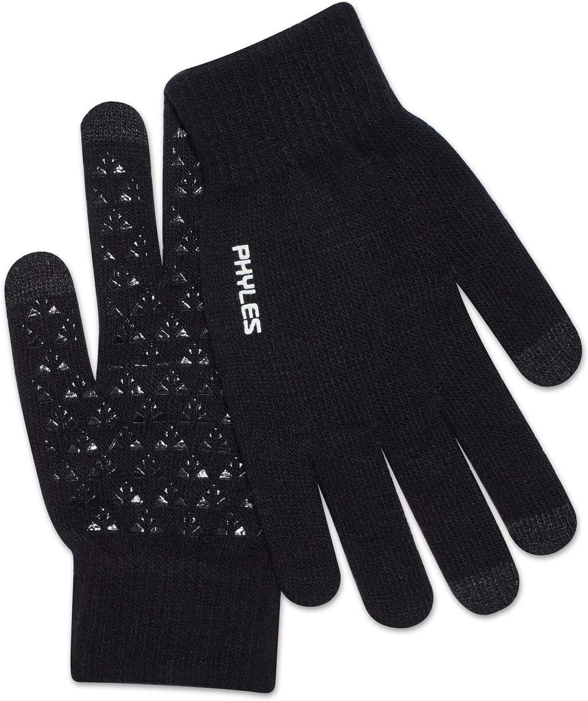 PHYLES Winter Knit Gloves Touchscreen Gloves Women Men Thermal Wool Lined Texting Gloves Running Gloves