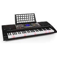 Schubert Etude 450 USB • Clavier • Clavier d'apprentissage • 61 touches • Touches lumineuses • Frappe dynamique • Fonction d'enregistrement • Fonction de lecture • 3 modes d'apprentissage • AUX • noir