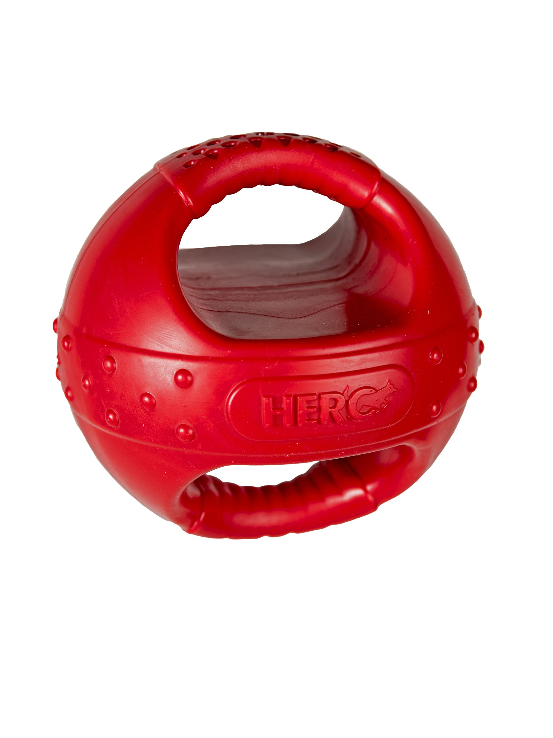 Hero Playtime Soft Rubber KettleBall, Red Dog Toy