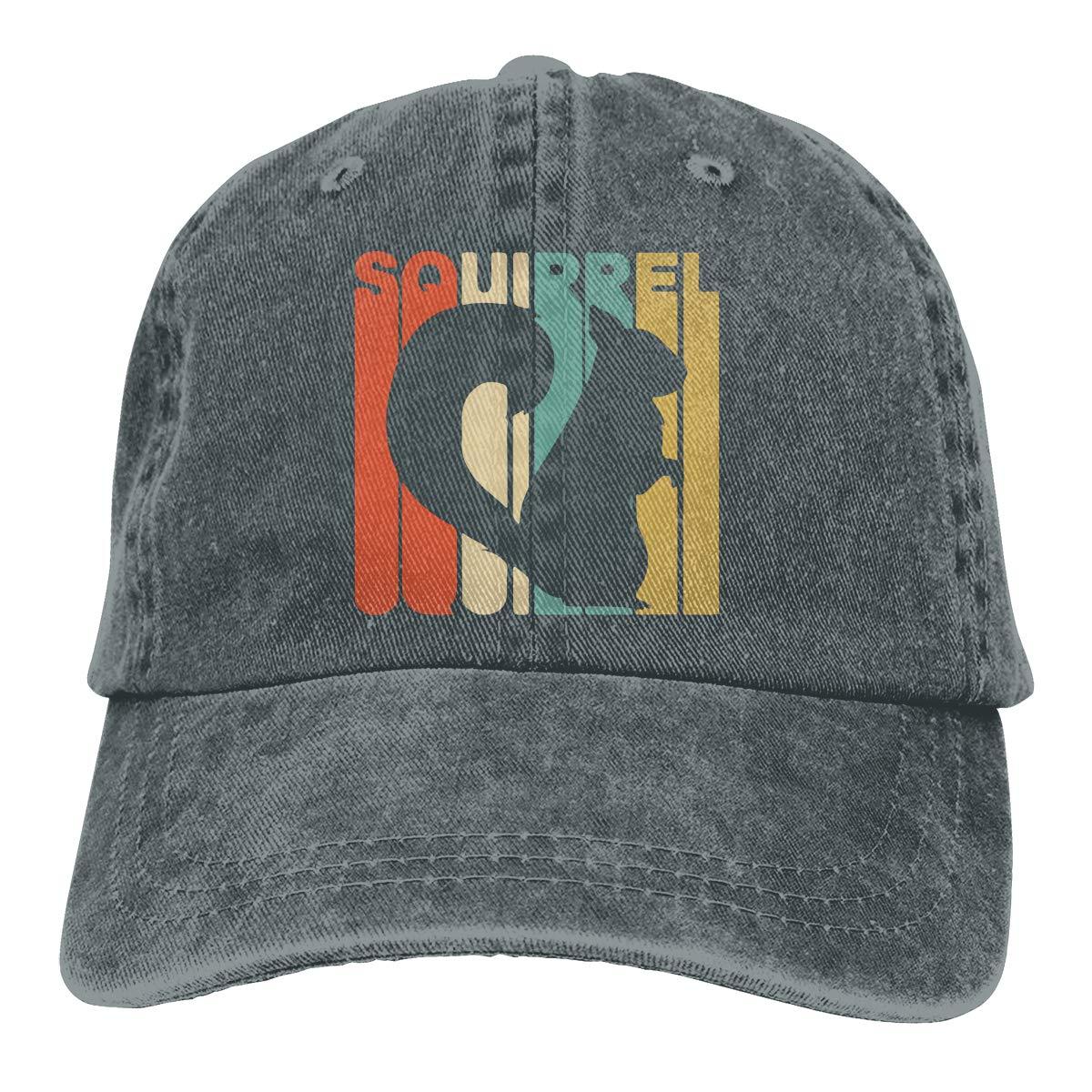 Vintage Style Squirrel Unisex Personalize Cowboy Sun Hat Adjustable Baseball Cap