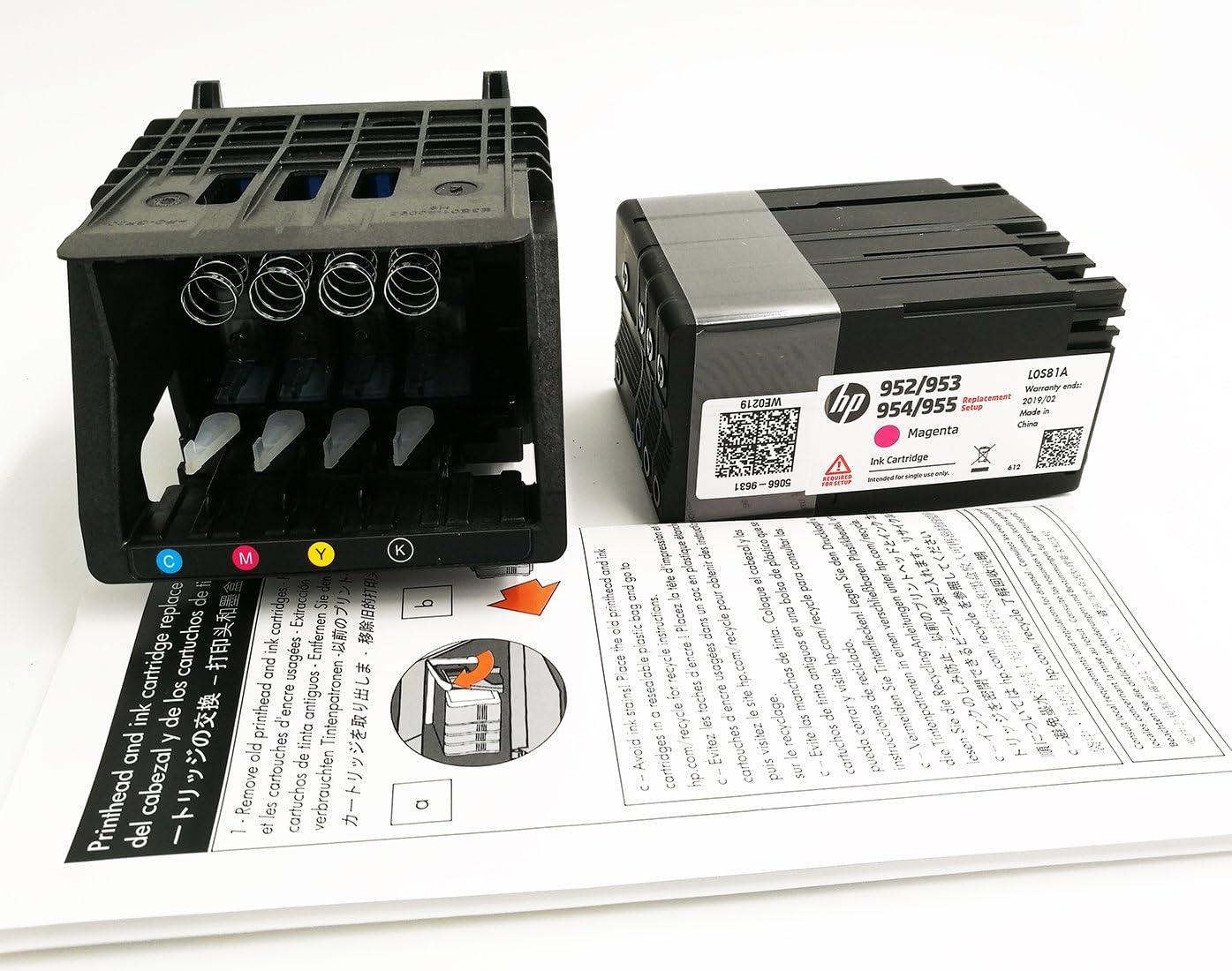 Cabezal de impresión HP 952 con Set de tinta para HP OfficeJet Pro ...