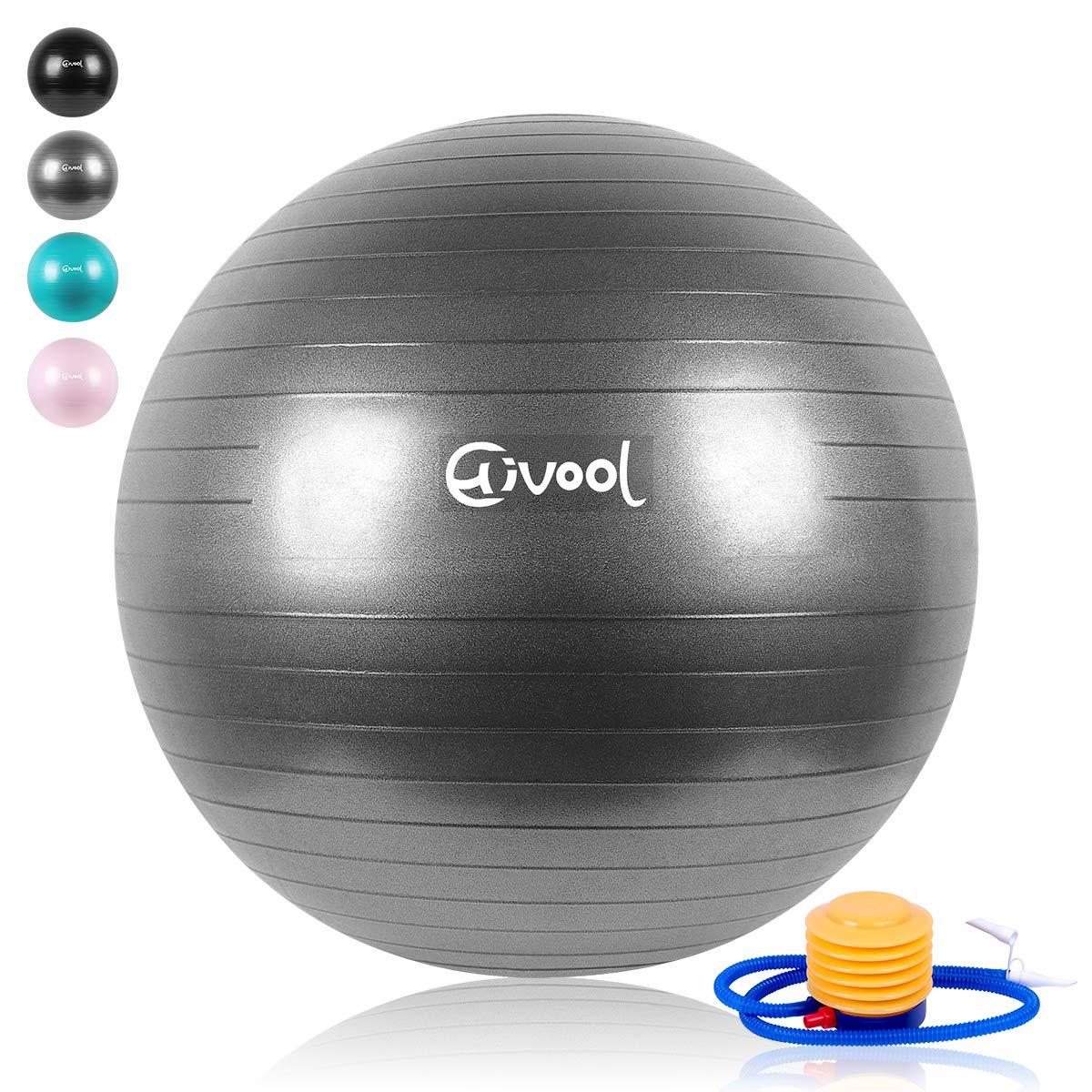 syoga,Bola Natal y Bomba r/ápida 55-85 cm Hivool Pelota de Ejercicio para Fitness