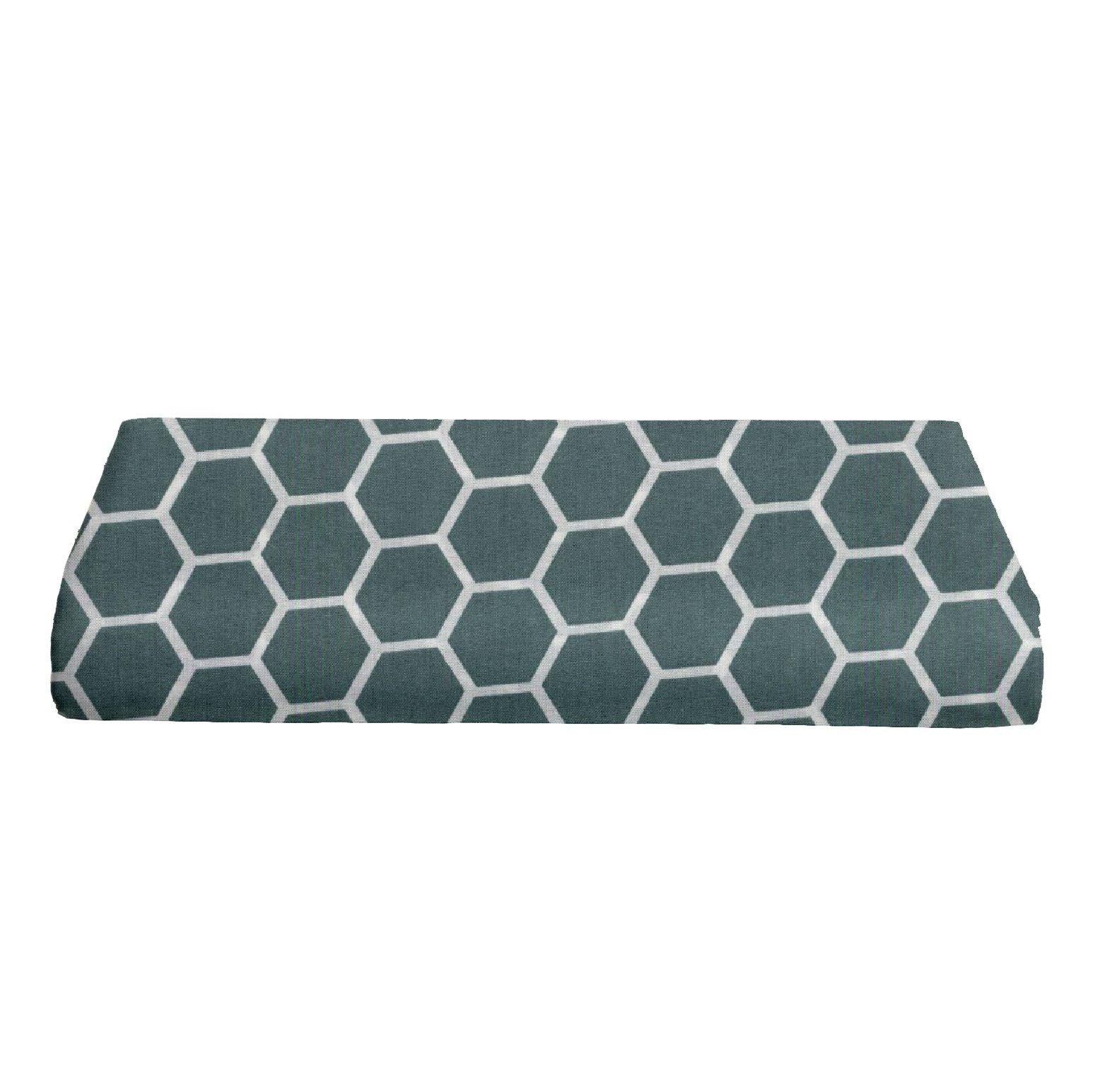 BKB Bassinet Sheet, Honeycomb Spa Blue, 13'' x 29''