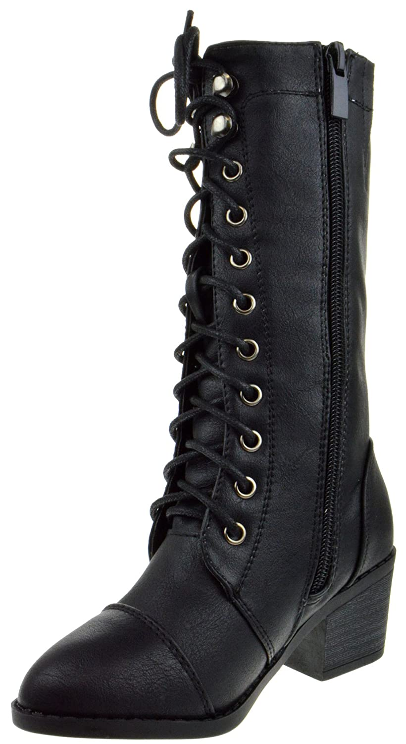 Lucky Top Eury 6K Little Girls Lace Up Riding Boots