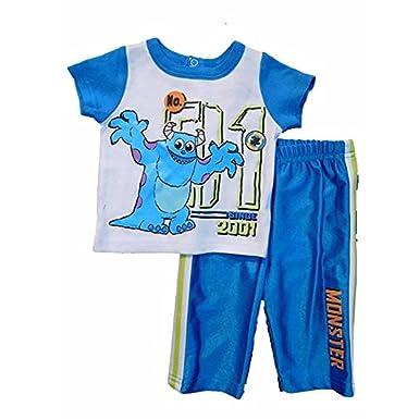d7c9798e61b Amazon.com  Disney Baby Baby-Boys Newborn Monsters 2 Piece Pant Set ...