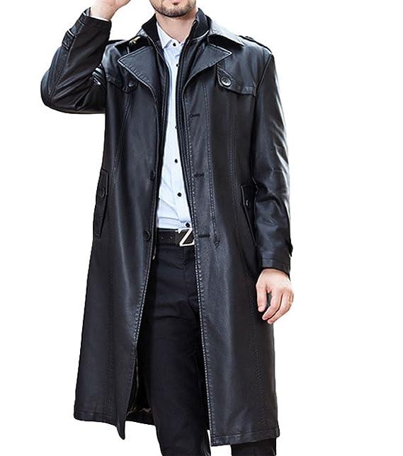cappotto lungo uomo pelle