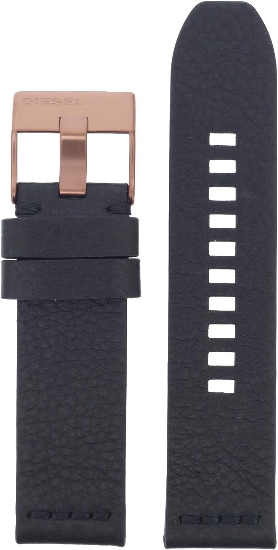 Diesel LB-DZ1841 - Correa de Repuesto para Reloj de Pulsera, Piel 24 mm, Color Negro