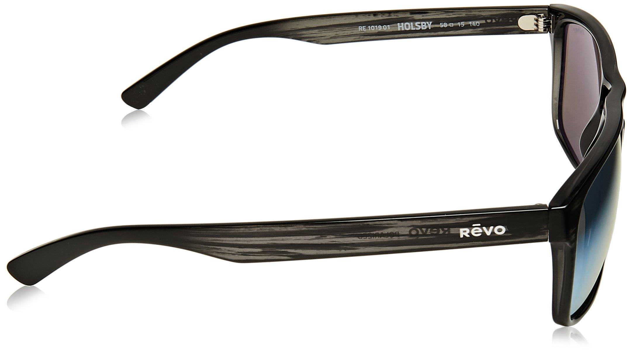 Revo Holsby Style and Performance Polarized Sunglasses, RE1019, Black Woodgrain, 58 mm by Revo Sunglasses (Image #3)