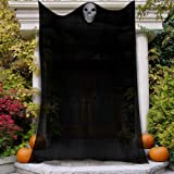 Kidtion 150 inch Halloween Hanging Ghost, 12.5ft Scary Creepy Halloween Decoration with Skeleton Mask, A Large Authentic…
