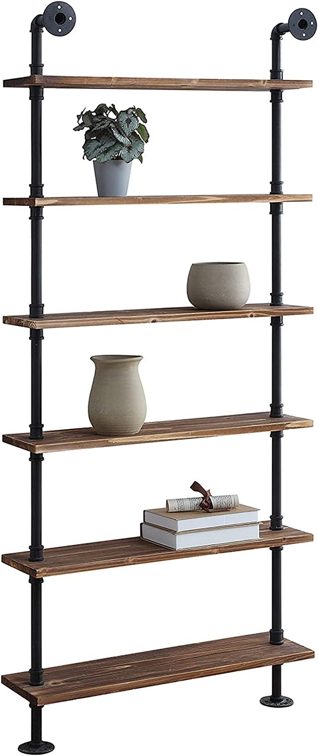 Shop Anacortes SHELFS, Black Pipe/Brown Shelves from Amazon on Openhaus