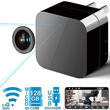 Amazon.com: Cámara espía oculta con cargador USB, 1080P ...