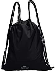 Sackpack Drawstring Backpack Bags with Waterproof Durable Lightweight Color Black by PASSIONGEN
