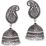 Jaipur Mart Jhumki Earrings for Women (Silver)(GSE320SLV)