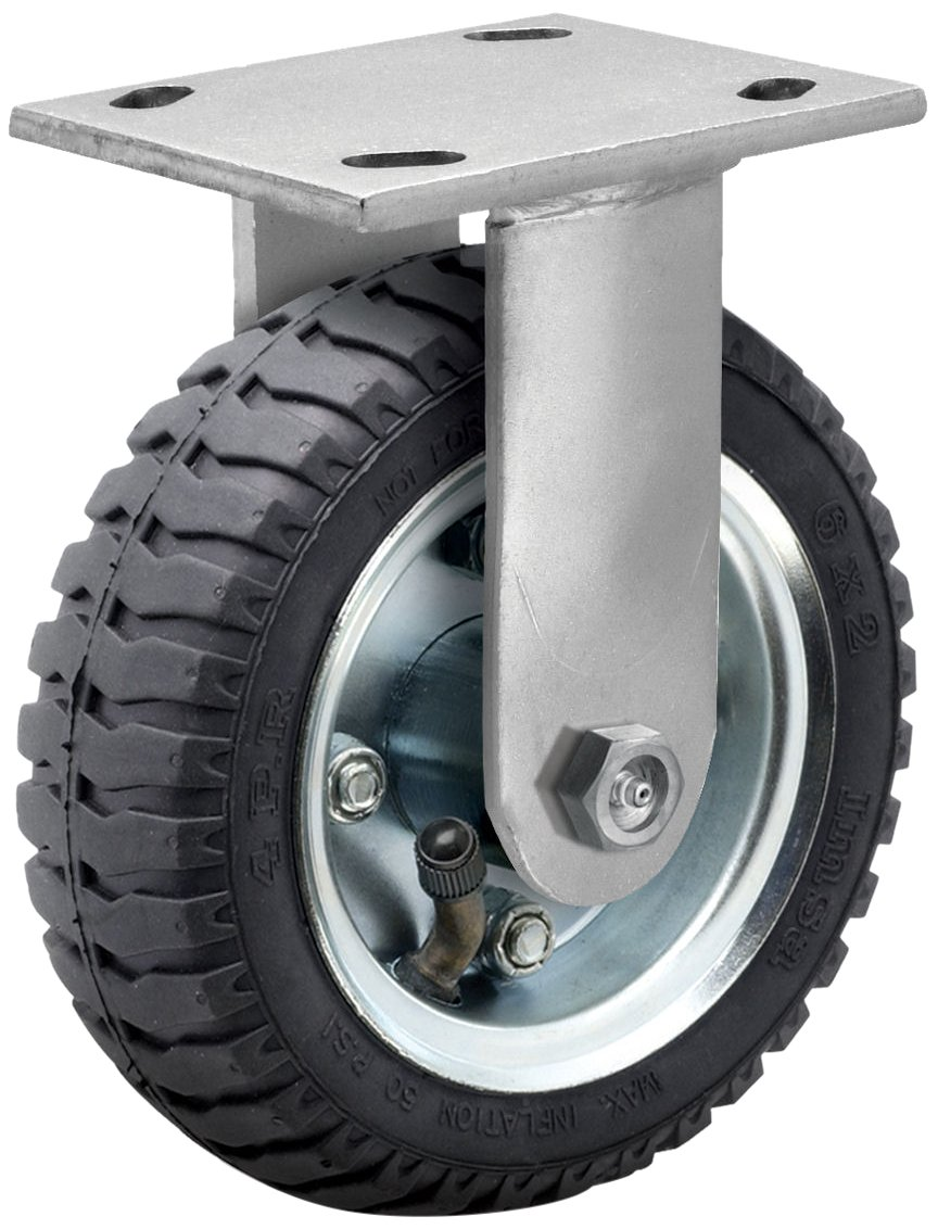 "B0094M2T9A Albion 16 Series 2"" Diameter Pneumatic Wheel Medium Heavy Duty Zinc Plate Rigid Caster, Roller Bearing, 4-1/2"" Length X 4"" Width Plate, 445 lbs Capacity 71SiI1s9bgL._SL1132_"