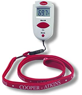 Cooper-Atkins 470-0-8 Digital Mini Infrared Thermometer with Neck Lanyard,