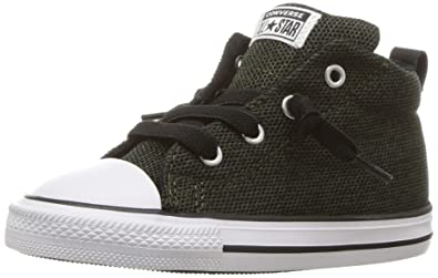 a6c743222c80 Converse Boys' Chuck Taylor All Star Street Mid Sneaker, Utility  Green/Black/