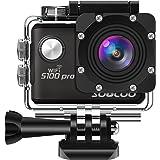 SOOCOO アクションカメラ 4K超高画質 2000万画素 2インチタッチパネル 音声コントロール GPS 170度広角 30m防水 wifi搭載 手ブレ補正 HDMI出力 リモコン付き 25個付属品付き S100PROウェアラブルカメラ ブラック