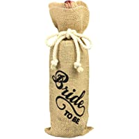 Bride to be Wine Bottle Cover, Engagement Party Gift Bag, Wine Bottle Cover Burlap to Engaged Couple