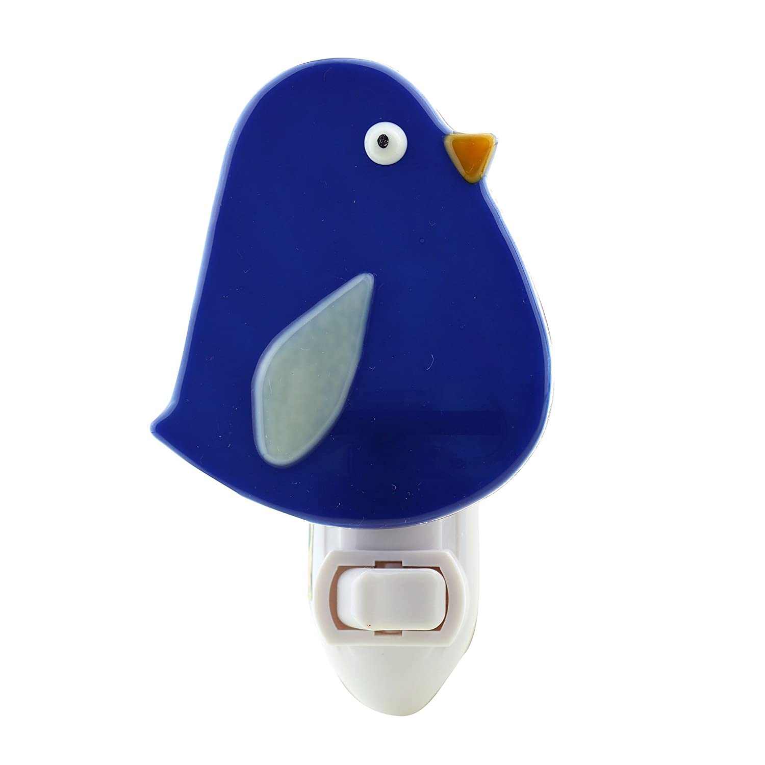 B0169NZINU Fused Glass Blue Canary Night Light 71SiK3S0A1L