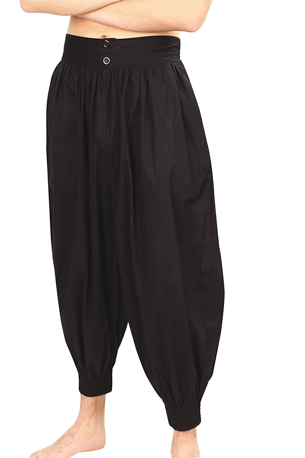 Deluxe Adult Costumes - Black Madagascar harem pirate pants by Museum Replicas