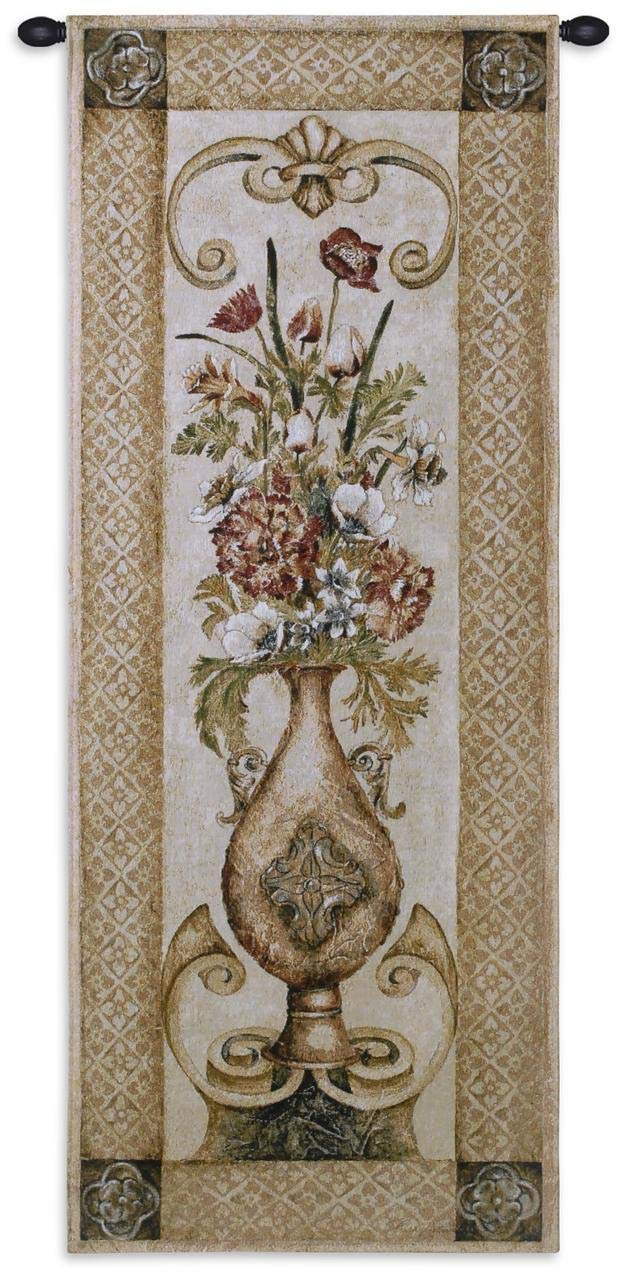 USA 53X22 Pure Country Weavers 1847-WH Woven Tapestry Wall Art Hanging for Home Living Room /& Office Decor Edens Botanical Ii 100/% Cotton Stunning Floral Bouquet Housed in A Decorative Urn and Set Upon A Golden Table