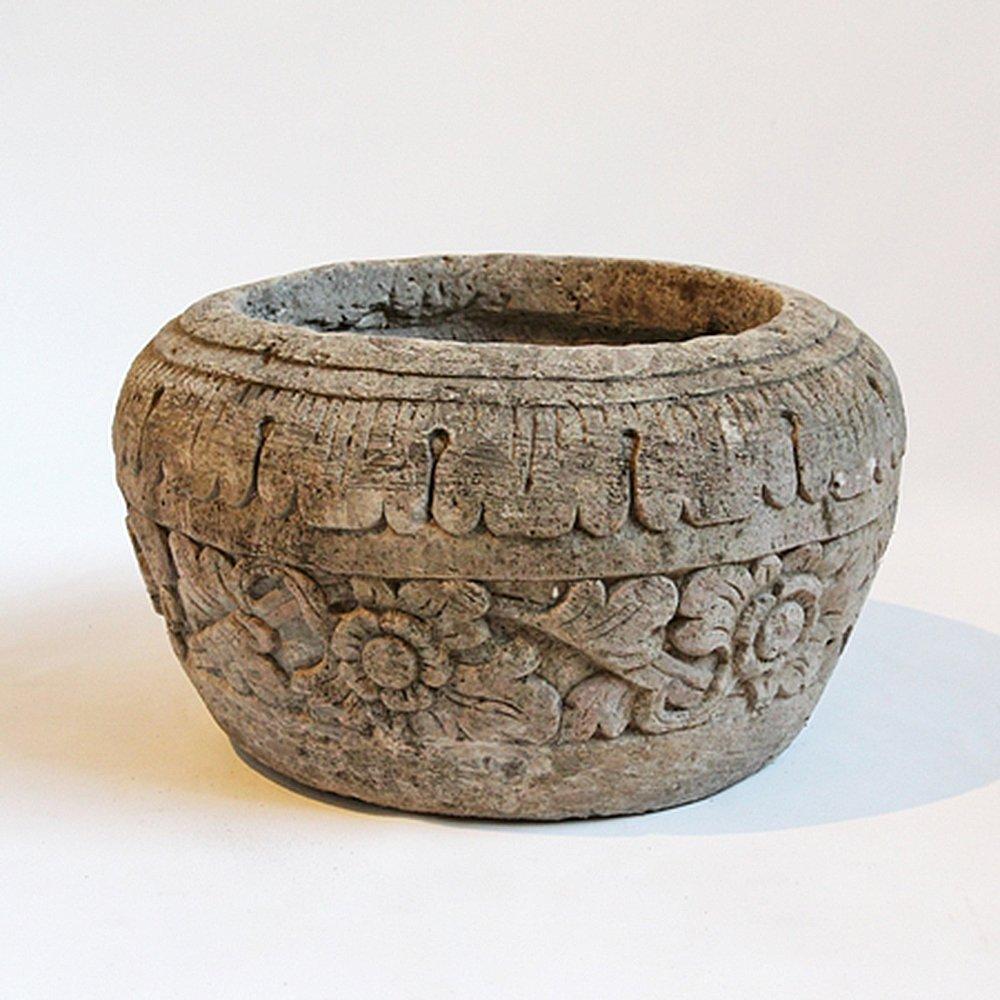 Stone Carved Garden Pot
