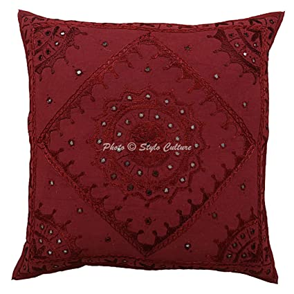 Amazon.com: Stylo Culture Indian Large Decorative Pillow ...