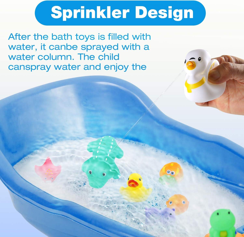 Colmanda Badespielzeug Set Badewannenspielzeug Schwimmendes Badespielzeug 16 St/ücke Badespielzeug Set mit Aufbewahrungstasche Badewannen Spielzeug f/ür Kinder