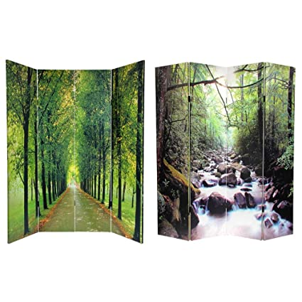 Superieur Oriental Furniture 6 Ft. Tall Double Sided Path Of Life Canvas Room Divider