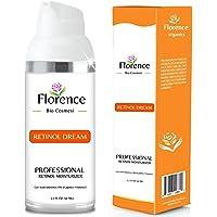 Florence Organics - Crema Facial con Retinol, Vitamina E, Aceite de Jojoba, Ácido