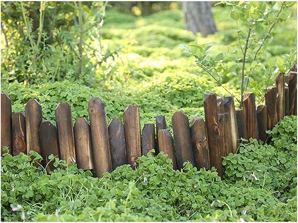 WXQ Paneles de Borde semicircular Cerca del jardín de Flor de Madera Cama de piquete Que Cerca al Aire Libre Patio de Frontera, 4 tamaños (Color : 5PCS, Size : 120X15/20CM): Amazon.es:
