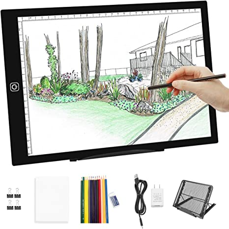 Animation A4 Portable LED Light Box Trace,LED Light Pad for Diamond Painting USB Powered Light Board Kit,LED Artcraft Tracing Light Table for Artists,Drawing Sketching