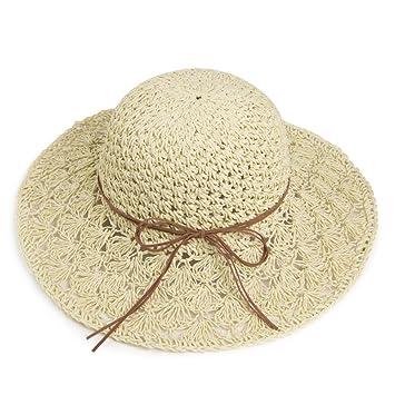 Gorro MEIDUO Sombrero de Playa Sombrero de paja de verano Sombrero de playa  femenino Sombrero de f302fcd8e04