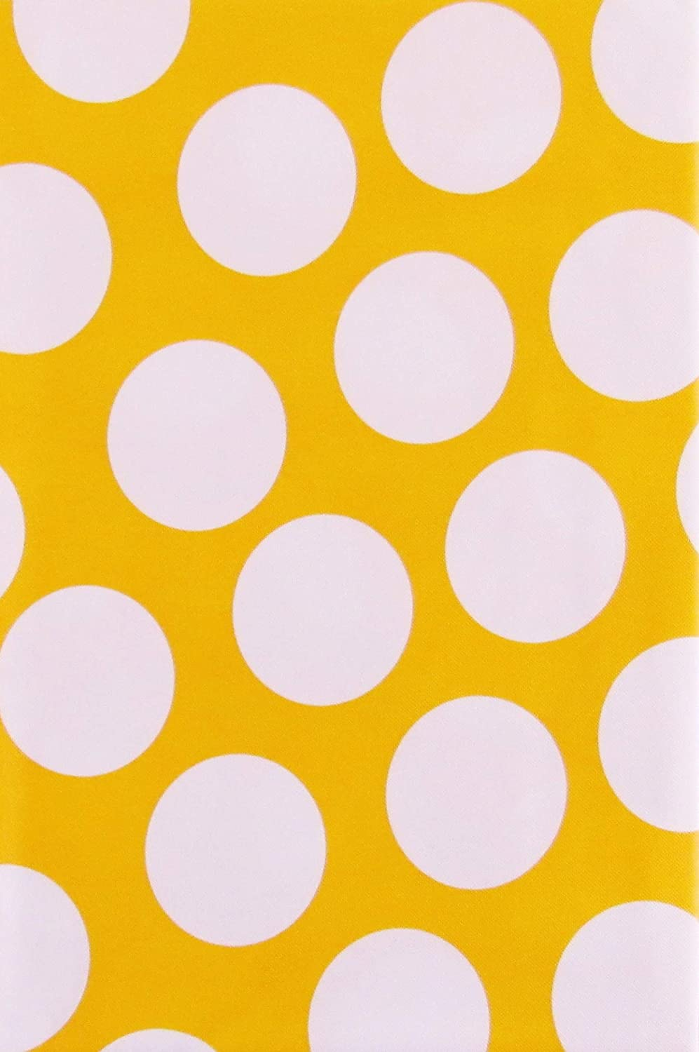 Vinyl Tablecloth Flannel Back EASTER SPRING Polka Dots Yellow Purple U Pick NEW