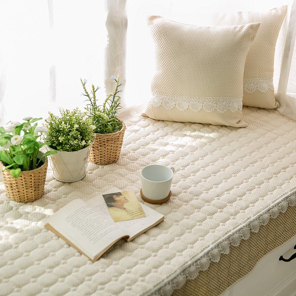 Simple non-slip bay window cushion blanket bench mat sofa mat rug bay window cushion cover tatami mats living room bedroom balcony mat-C 70x150cm(28x59inch)