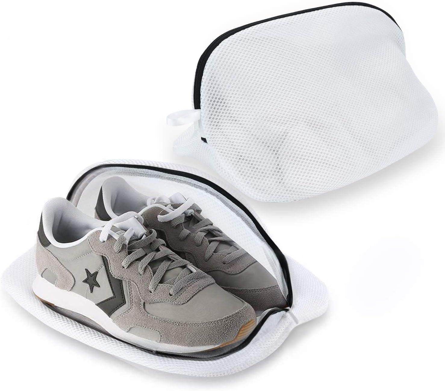 Yizhet 2 Bolsas Premium de Malla de Lavandería para Zapatos/Zapatos de Deporte para Lavadora con Cremallera Duradera, Bolsa de Lavado de Alta protección para Almacenamiento y Viaje