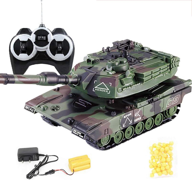 WOWOWO 1:32 Guerra Militar RC Tanque de Batalla Pesado Grande Coche de Juguete de Control Remoto Interactivo