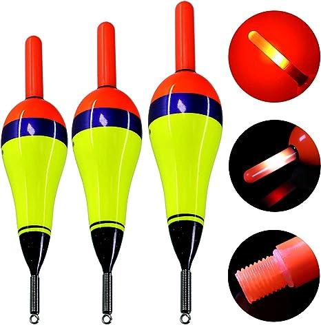 10pc elektronische leuchtende LED Licht Bobber Nachtfischen Tackle Fishing T8G7