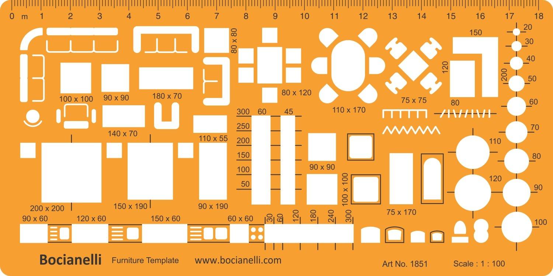 1: 50 Arquitectura Escala Dibujo Plantilla Plantilla ...