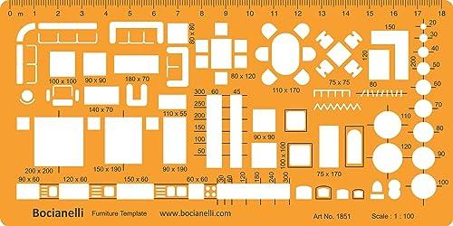 1 100 scale architectural drawing template stencil - 1 4 scale furniture for interior design ...