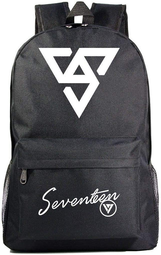JUSTGOGO Korean KPOP SEVENTEEN Backpack Daypack Laptop Bag School Bag Mochila Bookbag