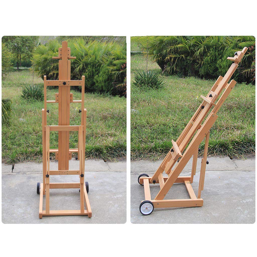 Landing Solid Wood Lift Fold Professional Large Easel Multifunction Real Estate Display Stand Elm Easel Nationwel@ Beech Wood Horizontal And Vertical Dual Use Traditional Chinese Painting Oil Easel
