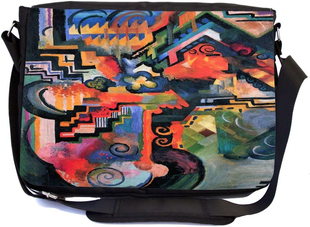 Rikki Knight August Macke Art Color Composition I Design Messenger School Bag mbcp-cond3158