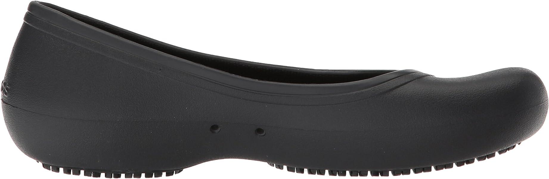 cbeea4f0c91 Crocs At Work Flat Damen Ballerinas, Schwarz (Black), 36/37 EU36/37 ...