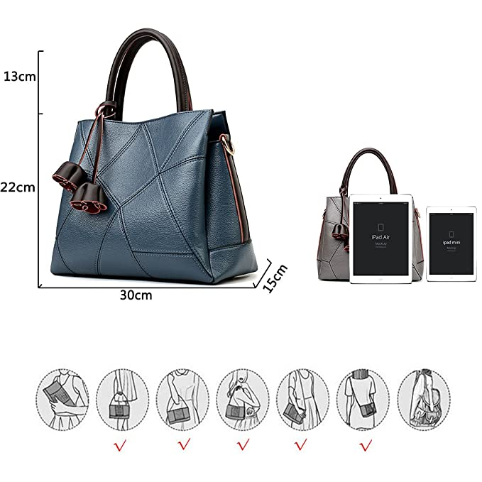 1400287d82 Coolives Gland Fleur Sac à Main Couture Géométrique Femme Bleu: Amazon.fr:  Bagages