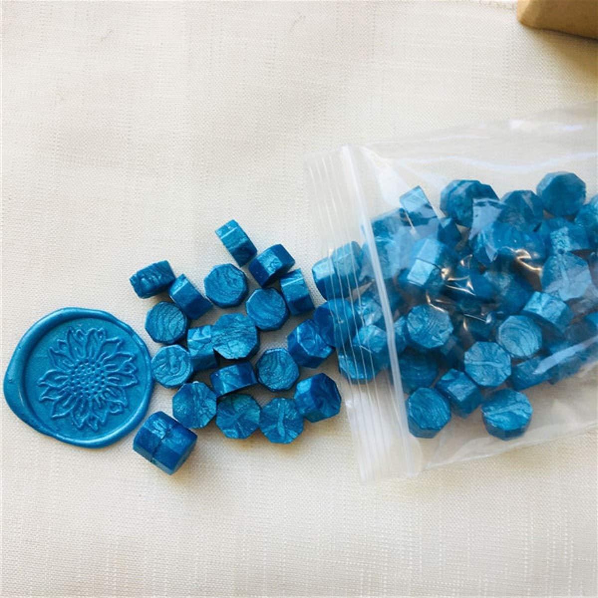 Mishiner Perline di Cera sigillante 100pcs Timbro Cera Vintage Sigillo di Cera Timbro Tablet Pillola Perline per Busta Matrimonio Sigillo di Cera Antico Sigillo di Cera Verde
