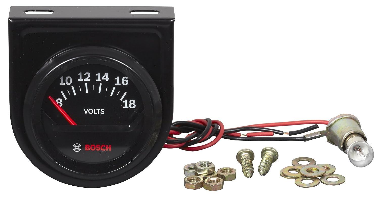 Black Dial Face, Black Bezel Bosch SP0F000051 Style Line 2 Electrical Voltmeter Gauge